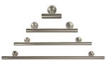 "Nickel ""Barre"" Drawer Pulls and Knobs - Round Drawer Handles - Brass Cabinet Hardware"