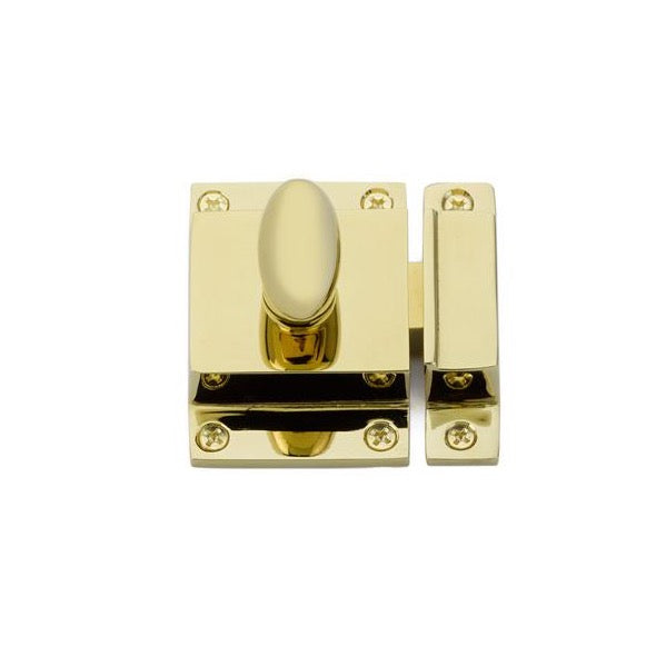Luxe Unlacquered Brass Cabinet Latch - Brass Cabinet Hardware