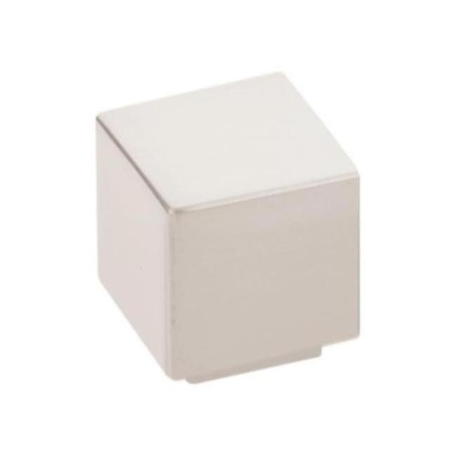 "Modern Rectangular ""Allerton"" Square Knob in Satin Nickel"