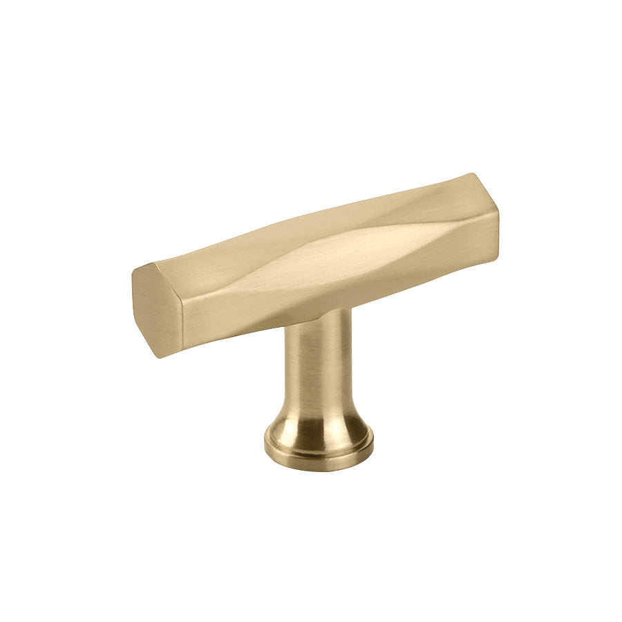 "T-Bar ""American Designer"" Cabinet Knob in Satin Brass"