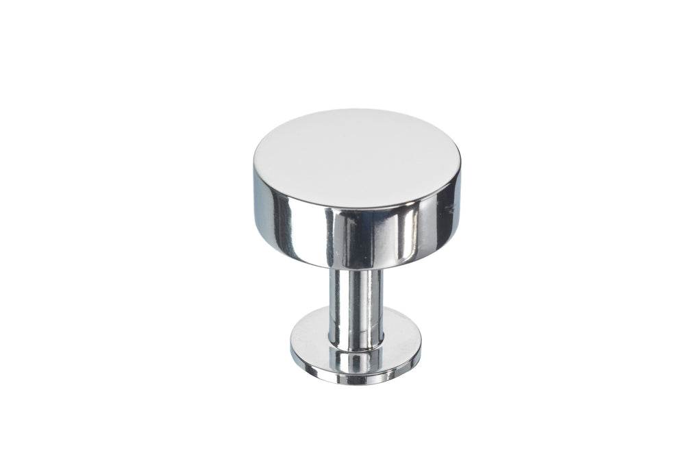 Polished Chrome Cabinet Knob Lew's Hardware 21-001 Disc Knob