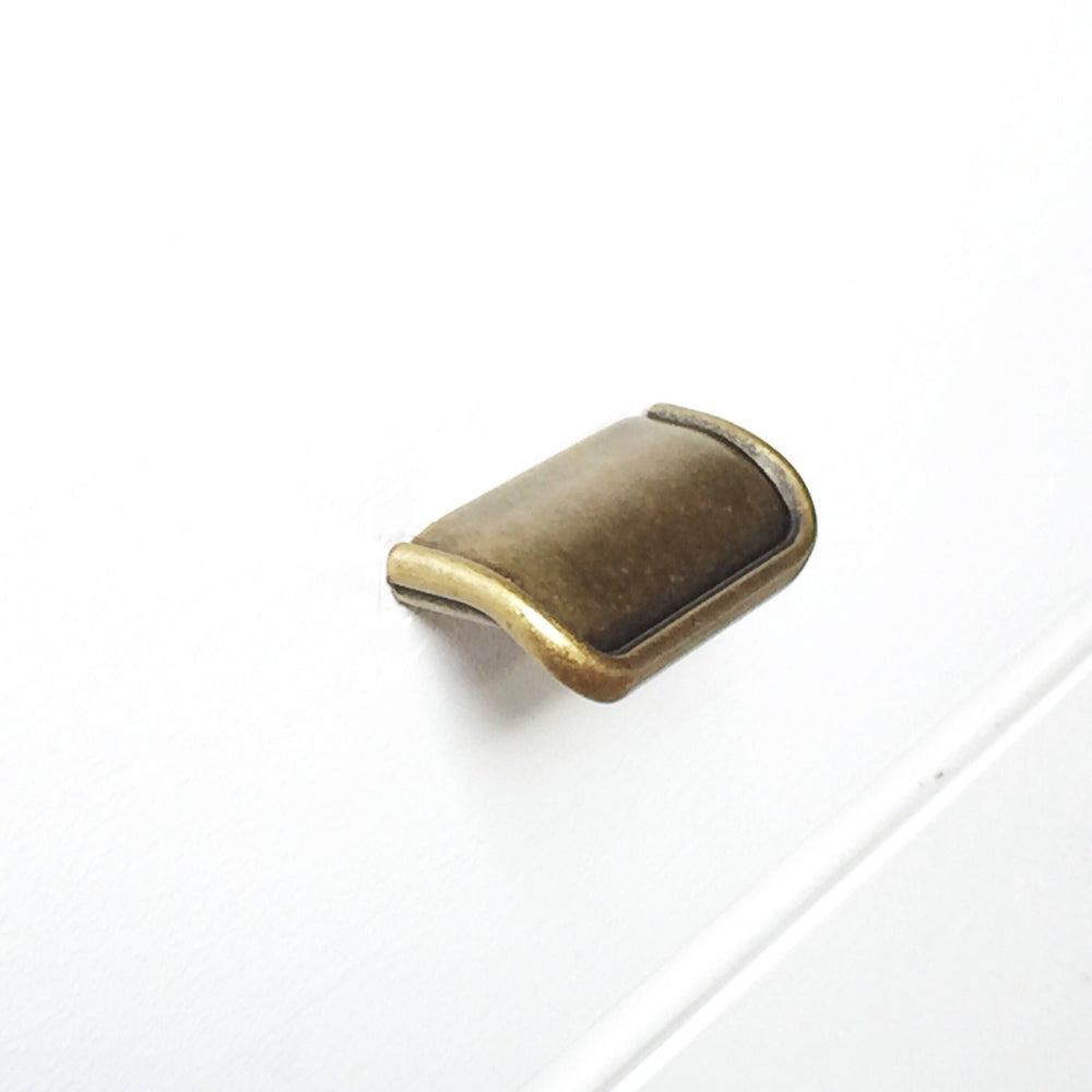 Tab Finger Drawer Pulls Quot Ella Quot In Antique Brass Forge