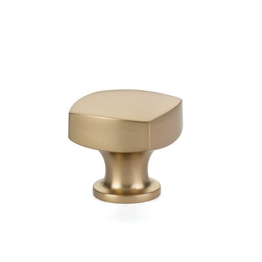 "Freestone Satin Brass ""Square"" Cabinet Knob - Brass Cabinet Hardware"