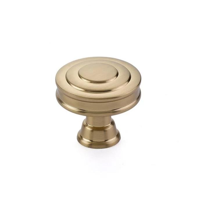 "Transitional Heritage ""Glendon"" Knob in Satin Brass - Brass Cabinet Hardware"