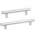 Mod Hex Polished Chrome Geometric Drawer Pulls - Brass Cabinet Hardware