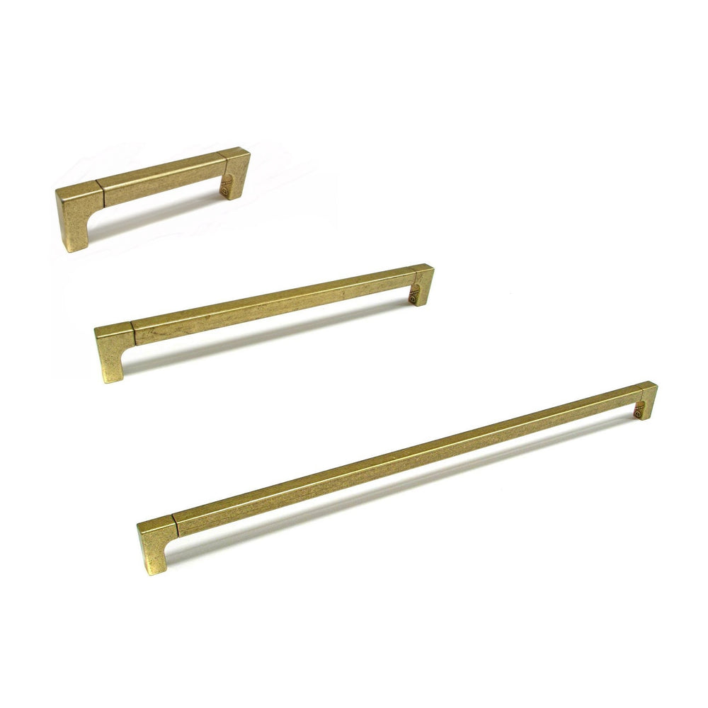 Lora Antique Brass Appliance and Drawer Pulls - Brass Cabinet Hardware