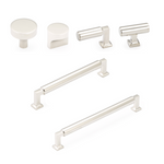 "Polished Nickel ""Neal"" Cabinet Knobs and Pulls Cabinet Hardware"
