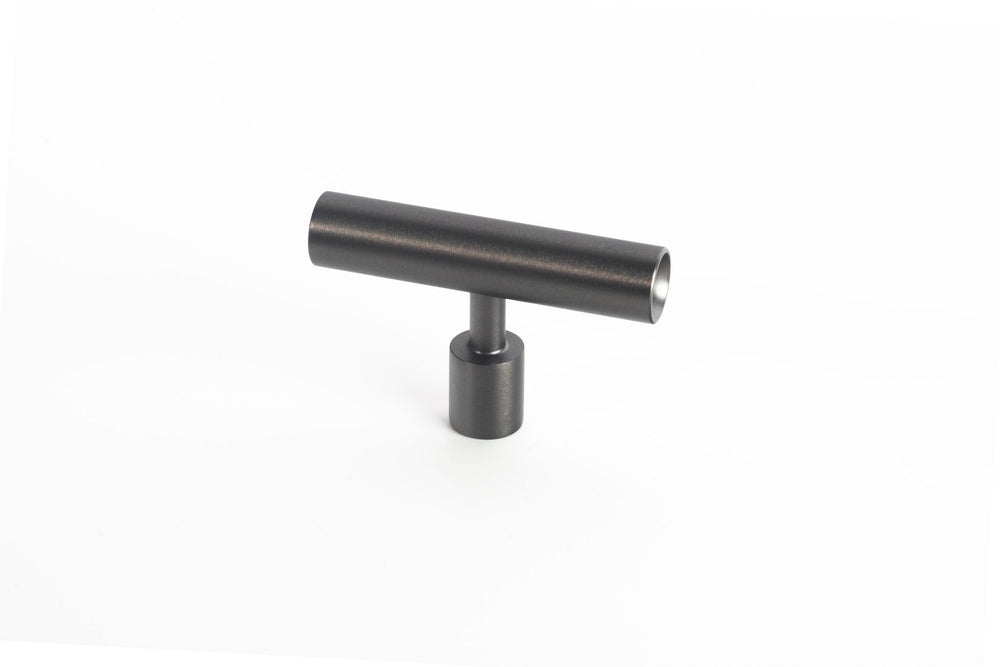 Black Stainless Steel Lew's Hardware Round Bar Series - Brass Cabinet Hardware