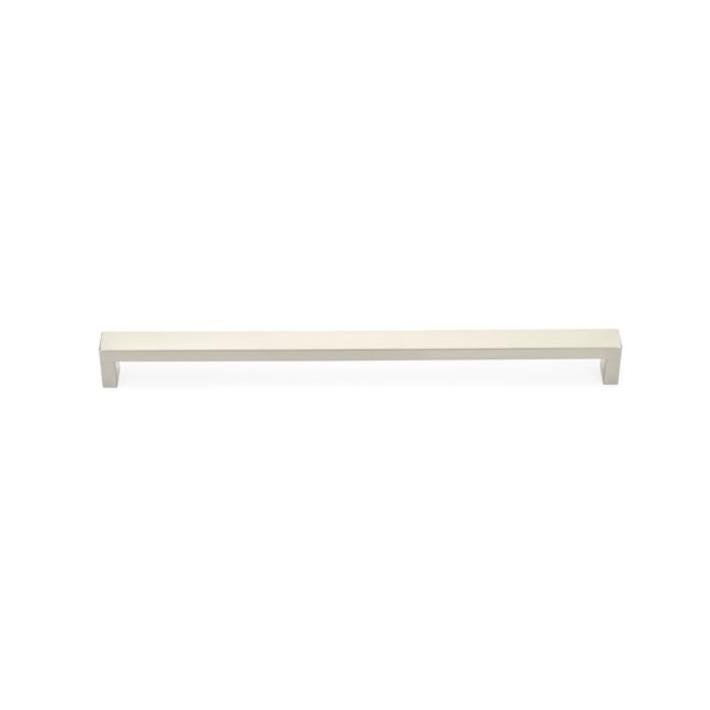 Modern Rectangular Keaton Brass Appliance Handles in Satin Nickel - Brass Cabinet Hardware