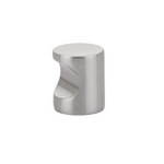 Luxe Whistle Cabinet Knob in Satin Nickel - Brass Cabinet Hardware