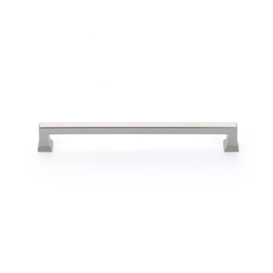 Polished Nickel Alexander Art Deco Appliance Handle - Brass Cabinet Hardware
