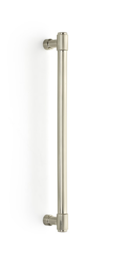 "Industrial Modern ""Jasper"" Appliance Handles in Satin Nickel - Brass Cabinet Hardware"