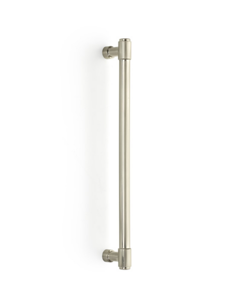 Industrial Modern Jasper Drawer Pulls in Satin Nickel