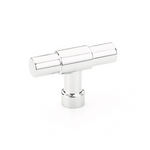 "Industrial Modern ""Jasper"" T-Knob Cabinet Knob in Polished Chrome"