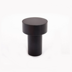 "Modern ""Dot"" Round Wall Hook in Matte Black"