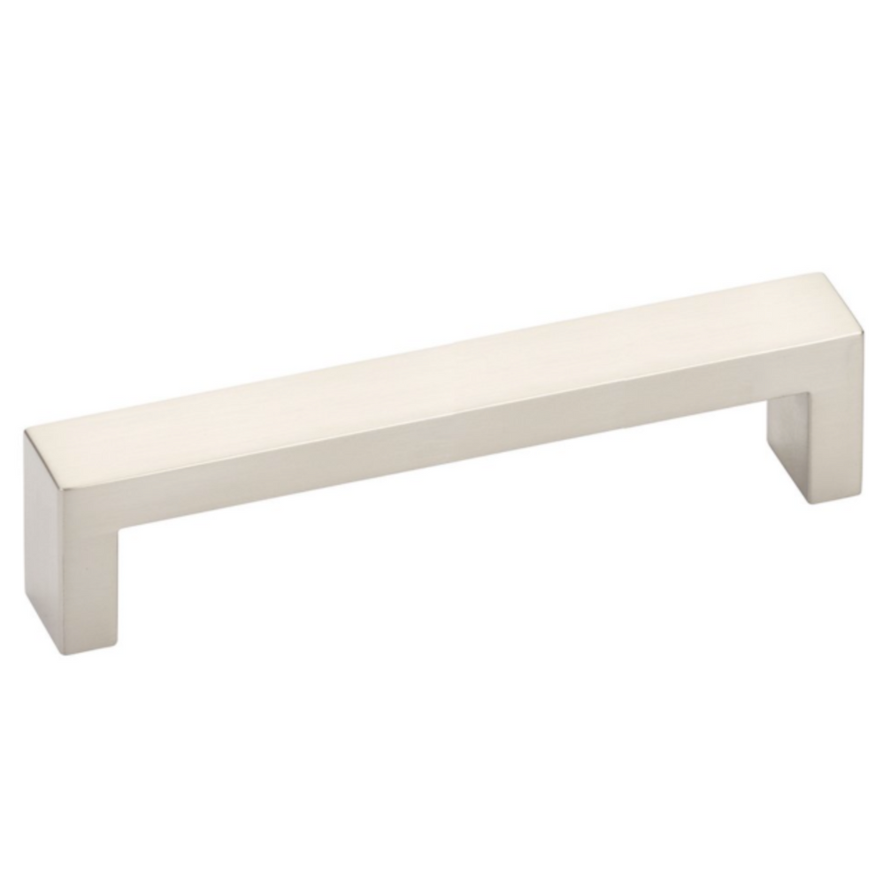 Modern Rectangular Keaton Brass Drawer Pulls in Satin Nickel