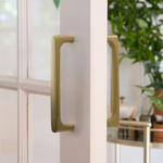 Back to Back Door Pull in Satin Brass Front & Back Hardware for Interior Doors