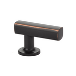 Urban Modern T-Knob Cabinet Knob in Oil Rubbed Bronze