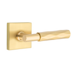 T-Bar Tribeca SELECT Satin Brass Door Lever w/ Square Rosette