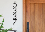"Modern 7"" House Numbers ""Edge"" - Designer Home Numbers"