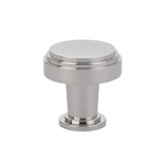 "Satin Nickel Art Deco Round ""Newport"" Cabinet Knob"