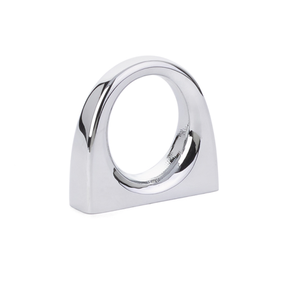 Luxe Bridge Cabinet Knob in Polished Chrome