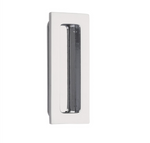 Modern Rectangular Flush Solid Recess Door Pull in Polished Chrome