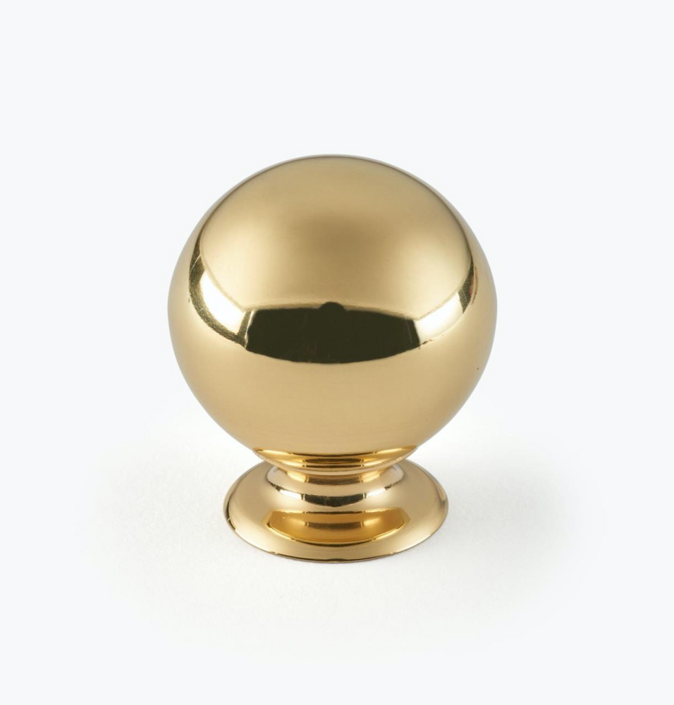 "Polished Brass ""Lori"" Ball Round Cabinet Knob"