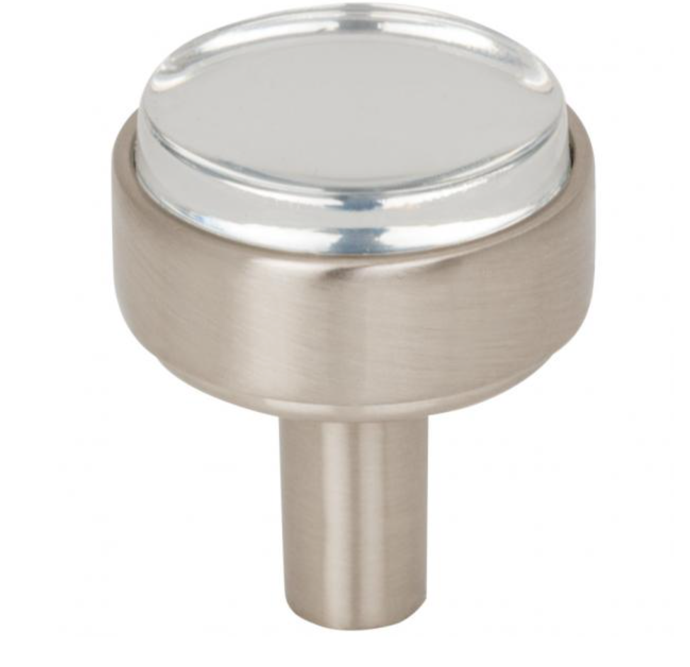 Nash Lucite Satin Nickel Drawer Pulls and Cabinet Knobs