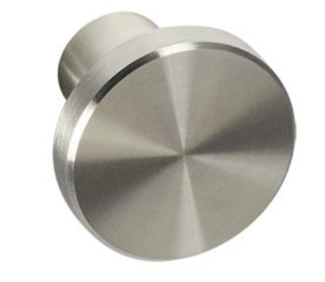 "Nickel ""European"" Drawer Pulls and Knobs - Round Drawer Handles - Brass Cabinet Hardware"