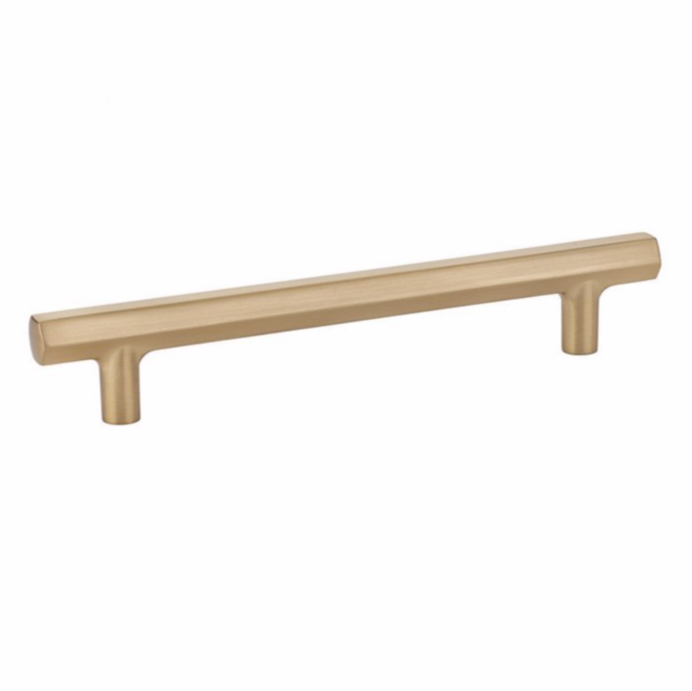 Mod Hex Satin Brass Geometric Drawer Pulls - Brass Cabinet Hardware