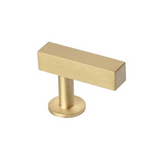 Lew's Hardware Bar Series 31-101 Brass Bar Knob - Brass Cabinet Hardware