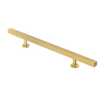 "Lew's Hardware 31-104 Brass Handle, 6"" Centers, 10-1/2"" Length"