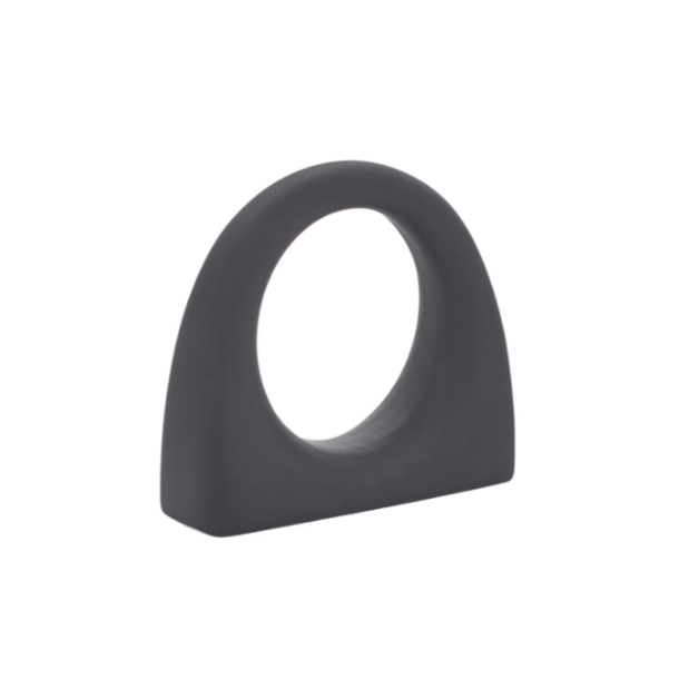 Luxe Black Bridge Cabinet Knob in Matte Black - Brass Cabinet Hardware