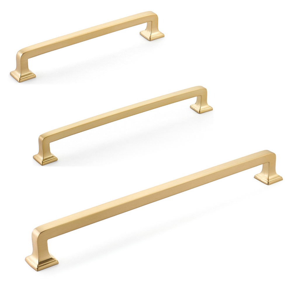 Menlo Park Brass Cabinet Drawer Pulls - Kitchen Drawer Handles