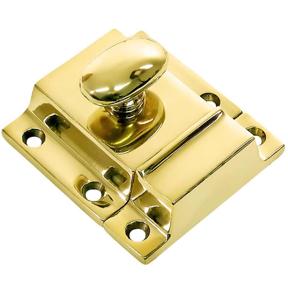 "Unlacquered Brass ""Eloise"" Cabinet Latch Pull - Kitchen Drawer Handle"