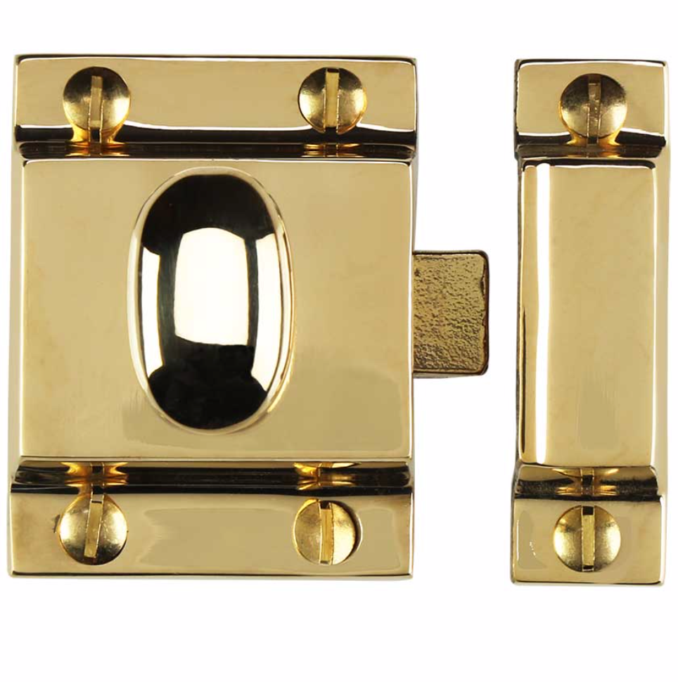 "Unlacquered Brass ""Eloise"" Cabinet Latch Pull - Kitchen Drawer Handle - Brass Cabinet Hardware"