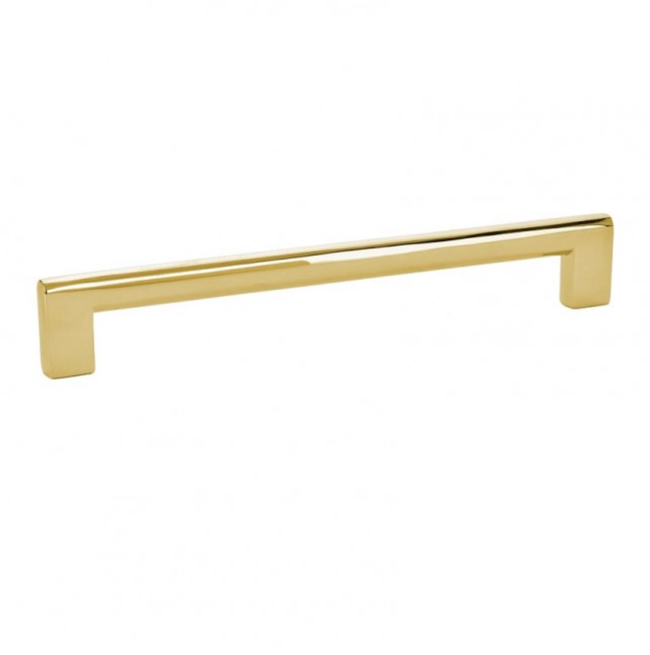 Luxe Unlacquered Brass Cabinet Pulls in Polished Unlacquered Brass - Brass Cabinet Hardware