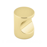 Luxe Unlacquered Brass Whistle Cabinet Knob - Brass Cabinet Hardware