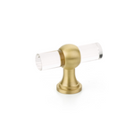 Transitional Lucite Cabinet Knobs and Drawer Pulls - Brass Cabinet Hardware