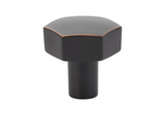 Mod Hex Knob in Oil Rubbed Bronze - Geometric Cabinet Hardware - Brass Cabinet Hardware