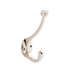 "Modern ""Lee"" Polished Nickel Wall Hook - Brass Cabinet Hardware"