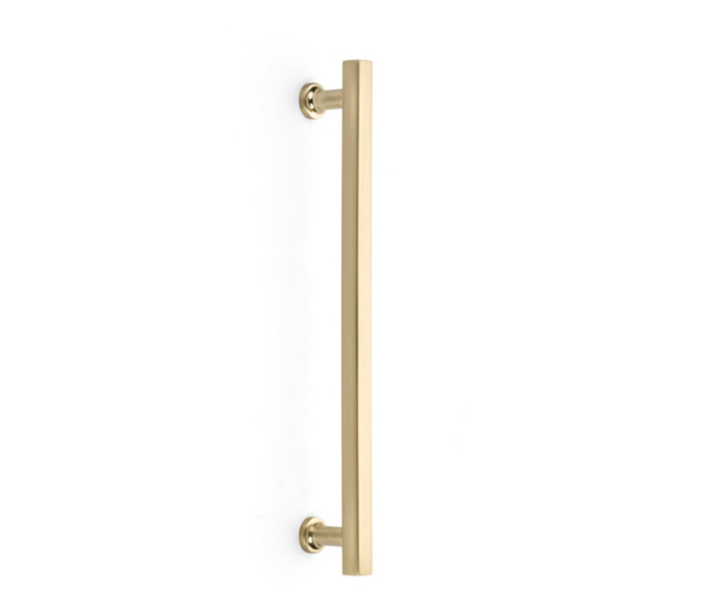 Satin Brass Freestone Appliance Handle - Brass Cabinet Hardware