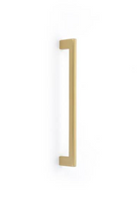 Luxe Brass Fridge Pull Appliance Handle in Satin Brass - Brass Cabinet Hardware