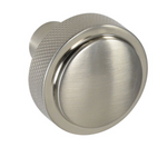 Diamond Texture Brushed Nickel Drawer Pulls and Cabinet Knobs - Brass Cabinet Hardware