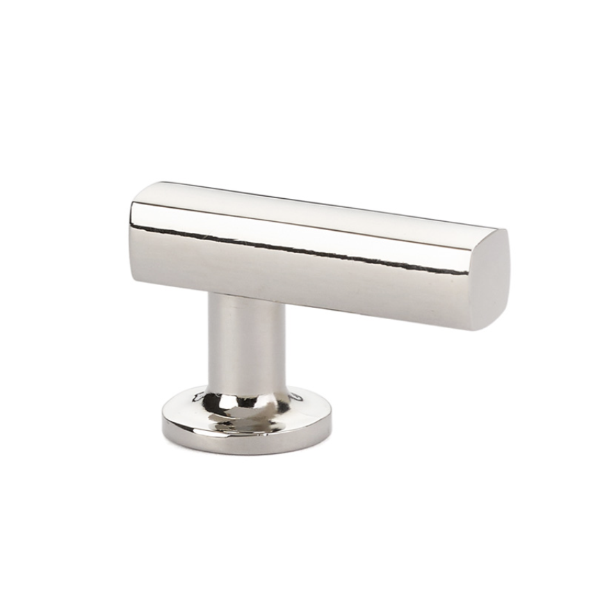 Freestone Cabinet T-Knob in Polished Nickel - Cabinet Hardware - Brass Cabinet Hardware