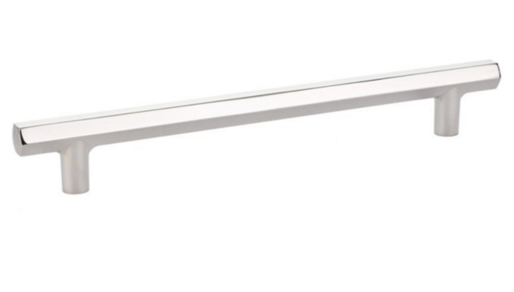 """Mod Hex"" T-Bar Refrigerator Handle in Polished Nickel"
