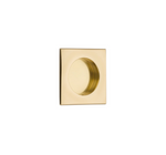 "Square Flush Solid Brass Recess Door Pull 2-1/2"" in Polished Brass"