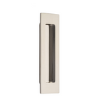 Modern Rectangular Flush Solid Brass Recess Door Pull in Polished Nickel