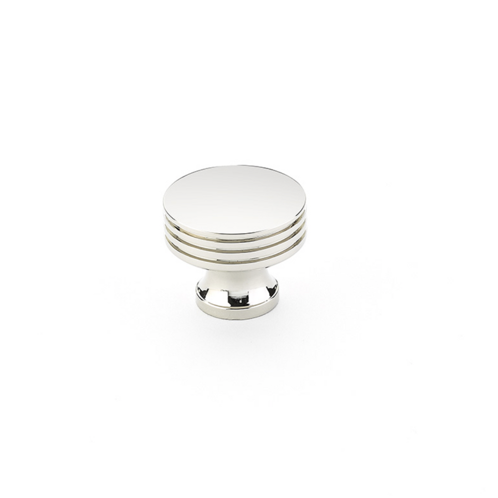 "Polished Nickel ""Transitional"" Cabinet Round Drawer Knob"